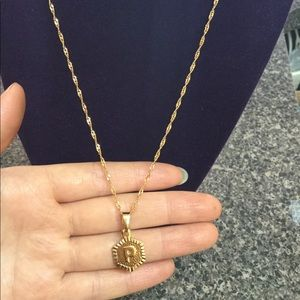 """Jewelry - New 18K gold """" P """" letter necklace"""